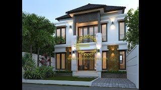 Desain Rumah 2 Lantai Luas Tanah 90m2