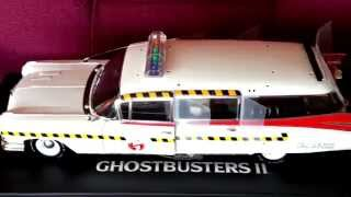 Hot Wheels Elite 1:18 Ghostbusters II Ecto 1a Unboxing and collection