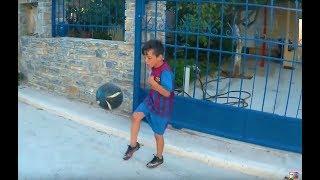 Κόλπα με την μπάλα κερδίζοντας μεταλλικές τάπες CHAMPIONS LEAGUE. Βίντεο για παιδιά Greece Greek