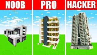 Minecraft NOOB vs. PRO vs. HACKER : HOUSE BUILD CHALLENGE in Minecraft!