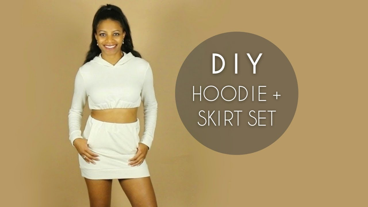 Diy Crop Top Hoodie Skirt Set 6 Steps With Pictures