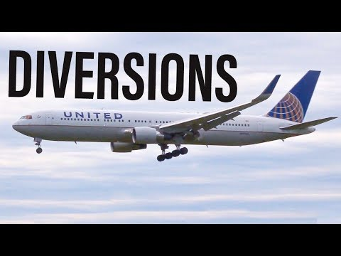 4 HEAVY RARE DIVERSIONS AT ALBANY INTERNATIONAL AIRPORT! 767's and 757's!