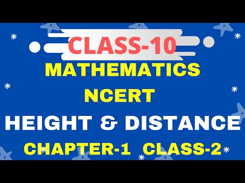class 10th ncert Height And Distances