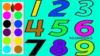 رسم و تلوين و كتابة أرقم من 1 9 تعليم ارقام للأطفال Learn To Write Letters And Numbers Youtube