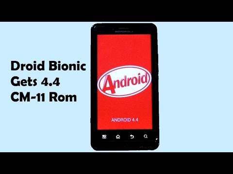Droid Bionic CyanogenMod 11 android 4.4 KitKat