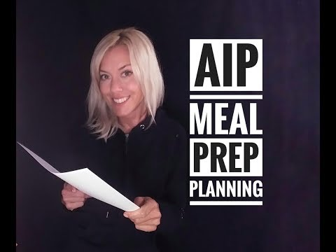 AIP Meal Prep Planning
