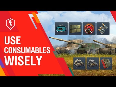 WoT Blitz. Tutorial. Unique Consumables And Provisions | How To Use