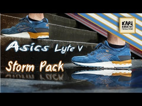 8451d9d88a0e Asics Gel Lyte V - Storm Pack - blue   ochre - Sneakers on feet - Music by   Aether - Wanderlust