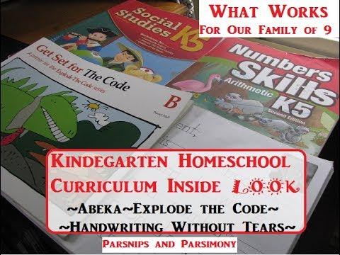 Our Homeschool Curriculum For Kindergarten: Inside Look at Abeka, Explode the Code+++