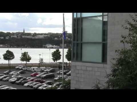 QUEBEC  6 08 2012 Terrasse Du Musee De La Civilisation
