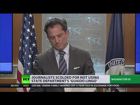 State Dept berates journalists for calling Guaido 'opposition leader' instead of 'interim president'