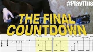 Как играть Europe - Final Countdown на гитаре | Уроки Гитары от PlayThis#20