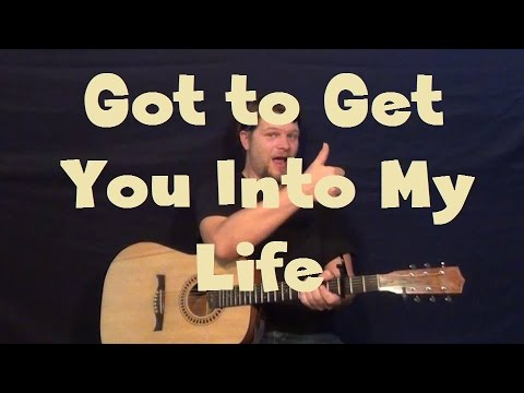 Got To Get You Into My Life The Beatles Guitar Lesson Strum Chords