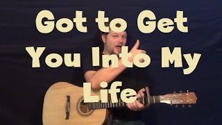 Got To Get You Into My Life (The Beatles) Guitar Lesson Strum Chords