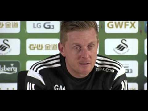 Bafetimbi Gomis has a promising future with Swansea City, says Garry Monk