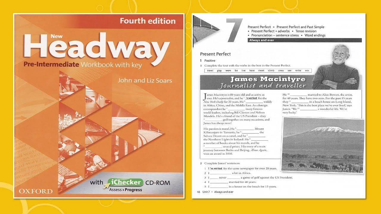 New Headway Pre-intermediate Exercise Book 4th -Unit :07 - YouTube