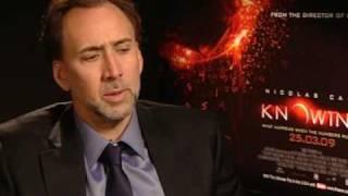 Nicholas Cage unveils Knowing