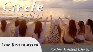 Lovelyz - Circle (Line Distribution / Color Coded Lyric)