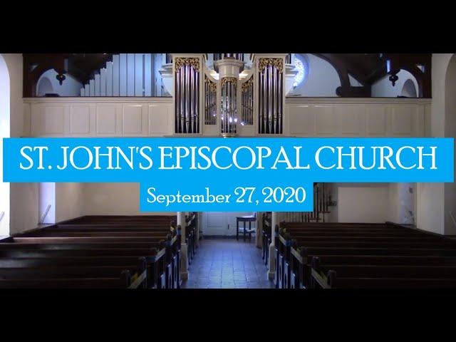 St. John's indoor service September 27, 2020