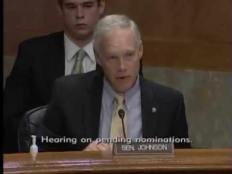 Senator Johnson at Homeland Security and Governmental Affairs Hearing