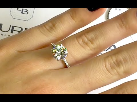 d10317a667bf2 2.50 carat Round Moissanite Engagement Ring
