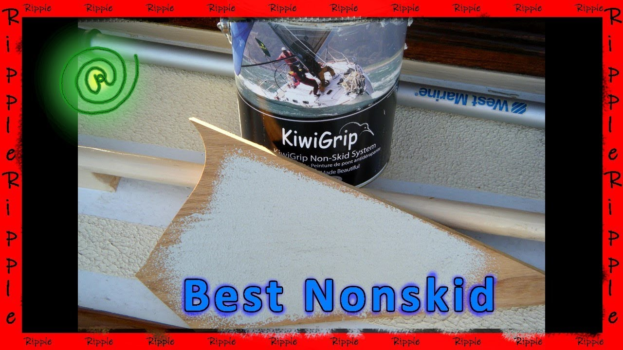 How to apply kiwigrip kiwi grip nonskid on a boat youtube for Boat non slip deck paint