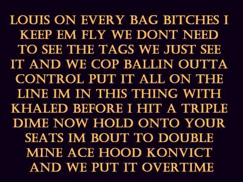 Overtime  Ace Hood, Akon &  TPain With Lyrics HQ