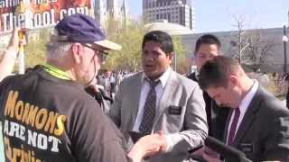 Mormon Missionaries going after Street Preacher in SLC.