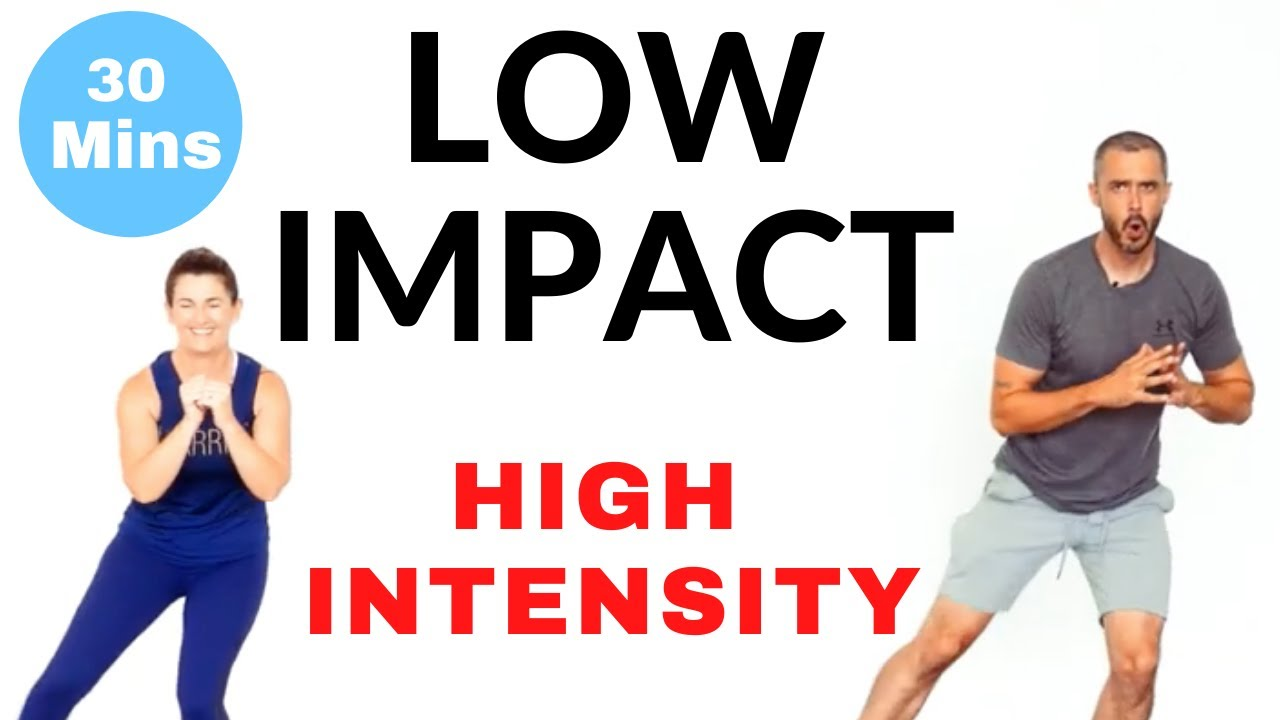 Low impact high intensity intermediate home cardio workout