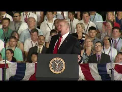 U.S. President Donald Trump Full Speech USS Gerald Ford Commissioning