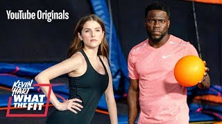 Trampoline Dodgeball with Anna Kendrick and Kevin Hart YouTube Videos