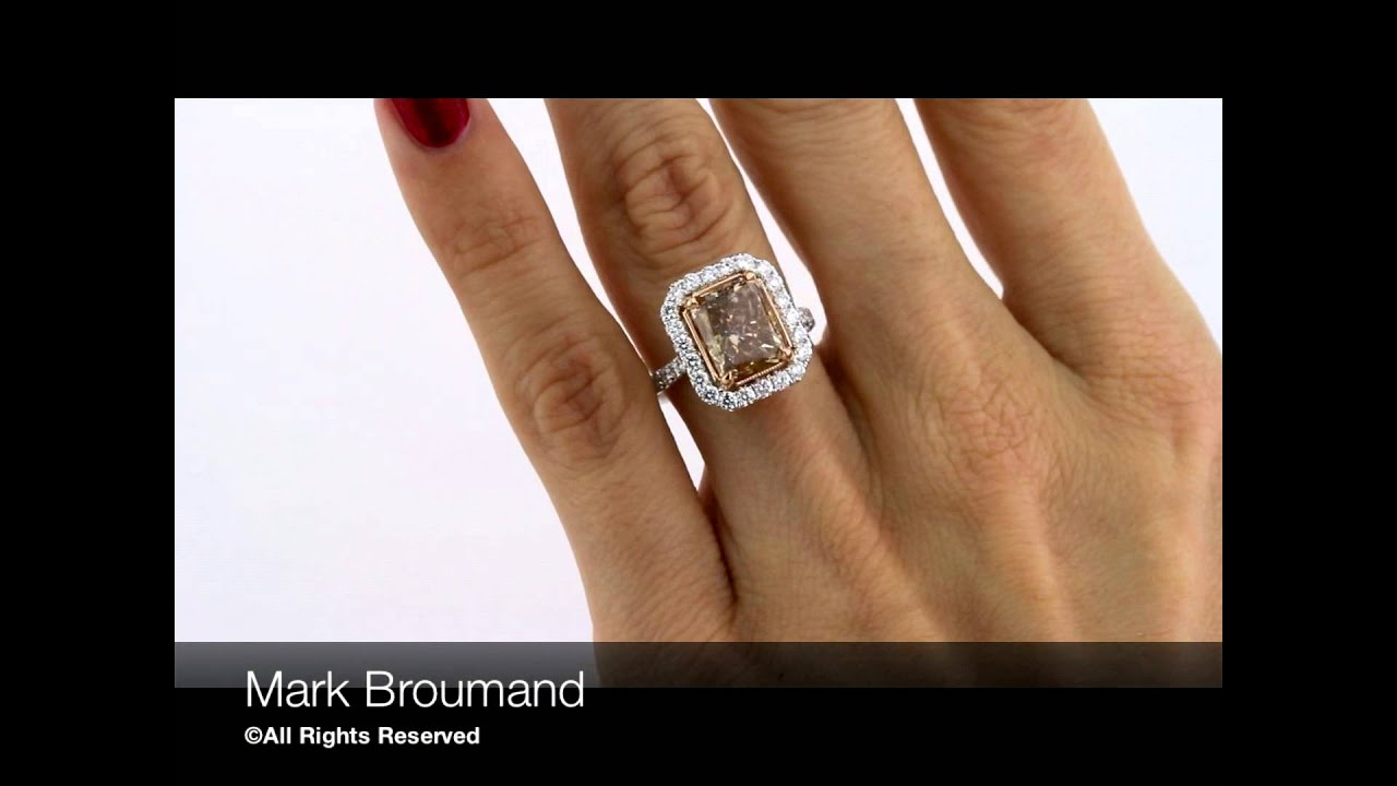 vivid diamonds ring diamond yellow brownish deep itm by super fancy cushion a lauren