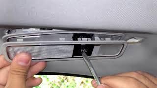 How to replace Mercedes-Benz W221 rear interior light bulb.как поменять лампочку в  салоне w221