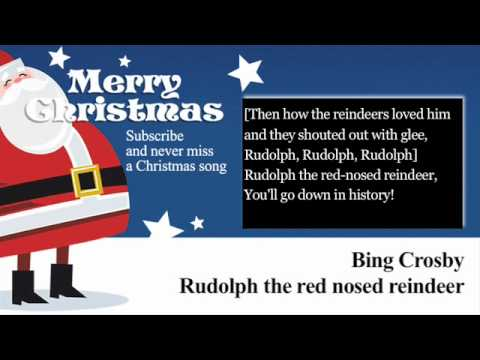 Bing Crosby - Rudolph the Red Nosed Reindeer - Lyrics (Paroles)