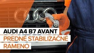 Montáž predné vpravo Vzpera stabilizátora AUDI A4: video príručky