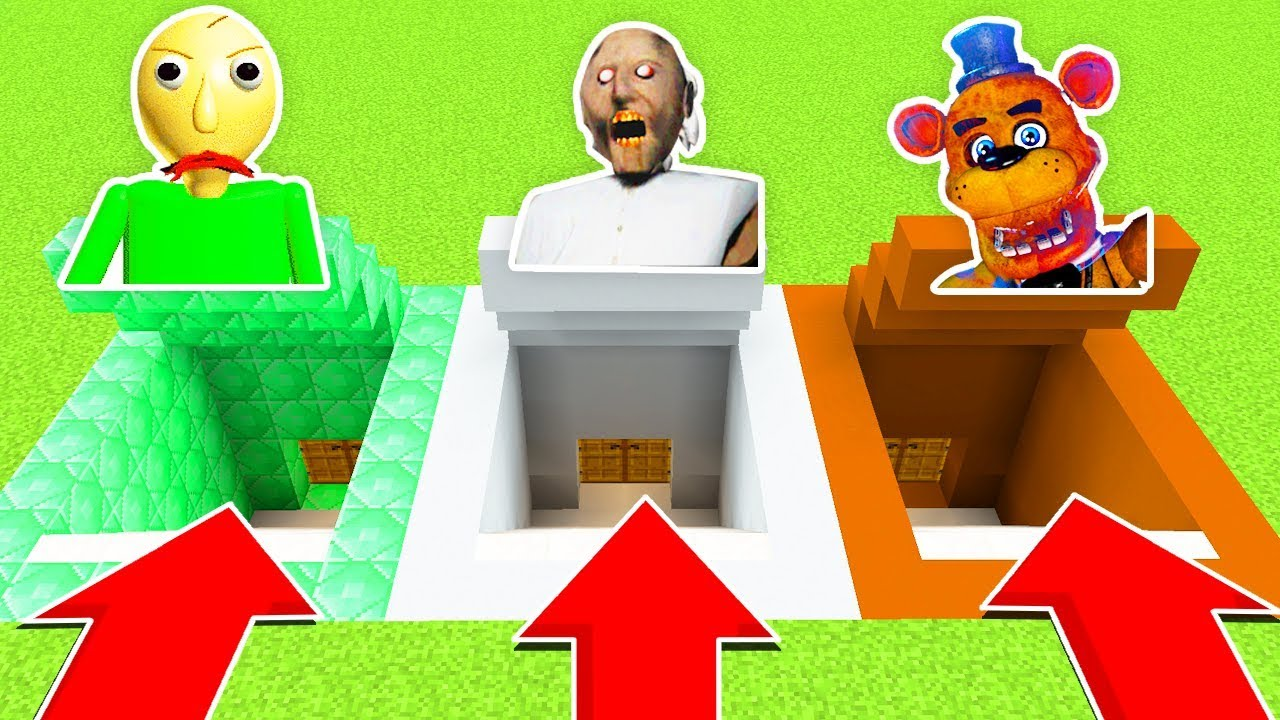 DO NOT CHOOSE THE WRONG SECRET BASE! (BALDI'S BASICS,GRANNY,FNAF) (Ps3/Xbox360/PS4/XboxOne/PE/MCPE)