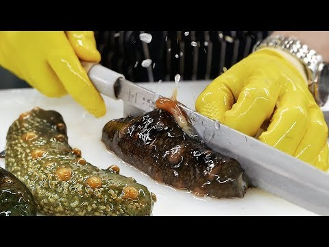 Hàn Quốc thức ăn đường phố - Hải sâm Hải sản