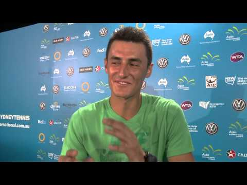 10 questions with ... Bernard Tomic - 2014 Apia International Sydney