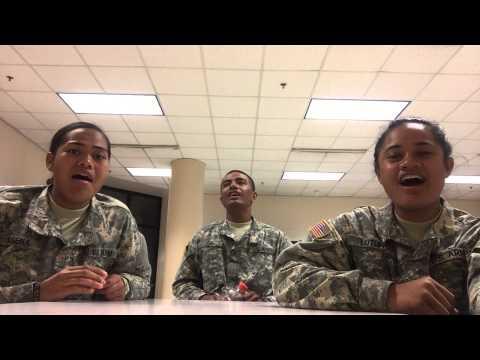 Samoan Soldiers singing Samoa Matalasi in AIT School Fort Lee VA 2015 TUAMINATORLIVECAM