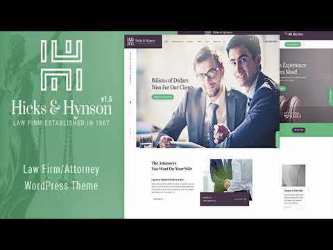Hicks & Hynson - Law Firm/Attorney WordPress Theme | Themeforest ...