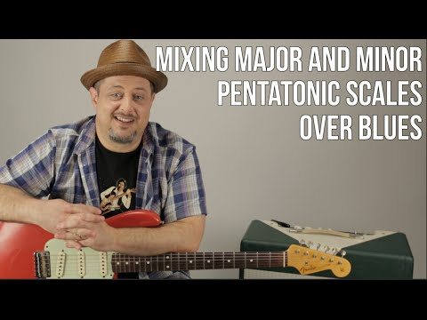 Guitar Lesson - Lead Guitar Solos - Mixing Major and Minor Pentatonic Scales for Blues