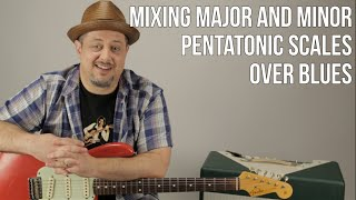 guitar lesson lead guitar solos mixing major and minor pentatonic scales for blues
