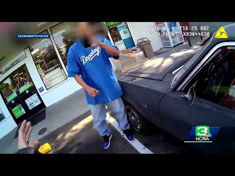 Sacramento police release body cam video of viral idling arrest