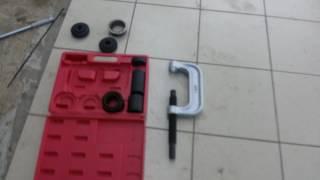Струбцина JTC-1037. Тест. Обзор. Струбцина для демонтажа/монтажа сайлентблоков и шаровых опор.