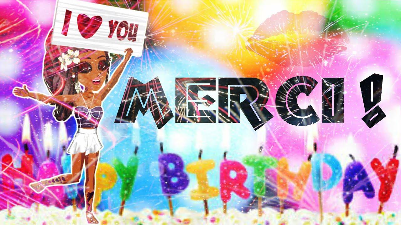 Nouveau Remerciement pour mon anniversaire ♥ - YouTube NK31