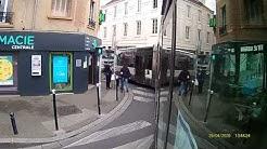 Bus 208 Champigny - Plessis Trévise - caméra sur la porte avant
