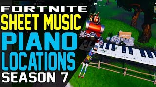 PLAY THE SHEET MUSIC ON THE PIANOS NEAR PLEASANT PARK and LONELY LODGE Fortnite Piano Locations