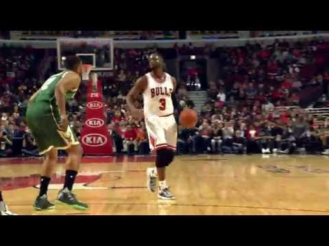 Rondo and Wade Score First Points in Chicago