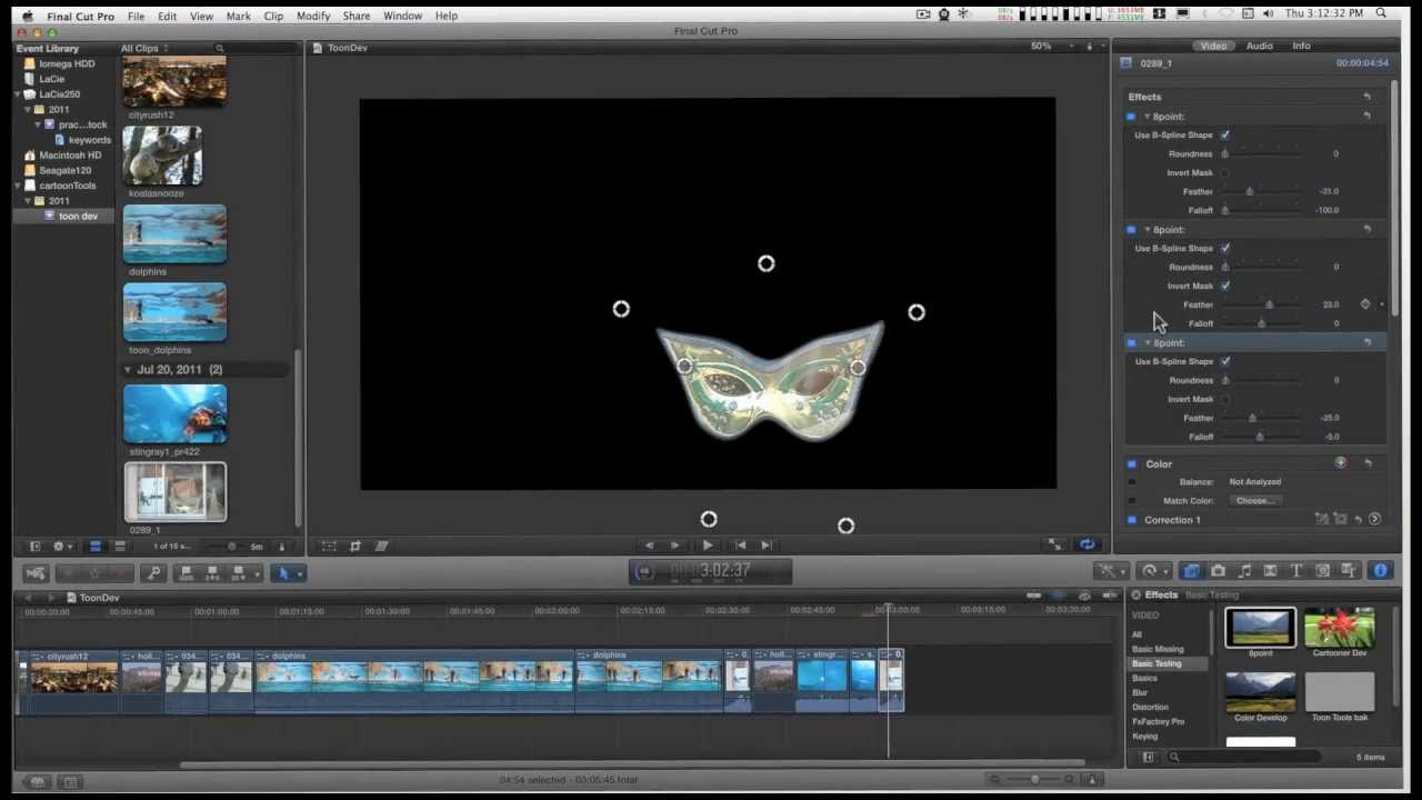 Free Final Cut Pro X (FCPX) effect: 7 Point Mask with On screen controls  +Preview next effect