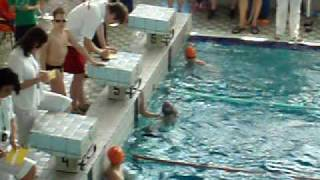 Jirka Škvařil 100m kraul krajský přebor Blansko 8 5 2009